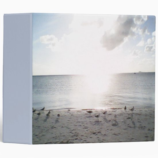 Sun Glory At The Beach 3 Ring Binder