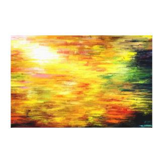 Sun glow canvas print