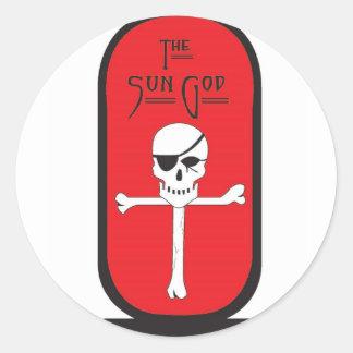 Sun God Logo Sticker
