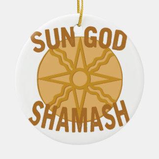 Sun God Shamash Ceramic Ornament