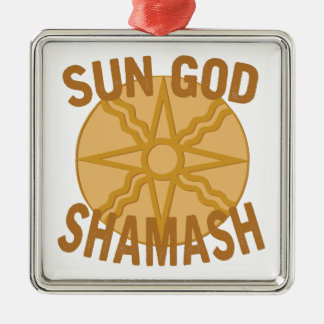 Sun God Shamash Metal Ornament