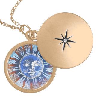 Sun God Sun Face gifts Locket Necklace