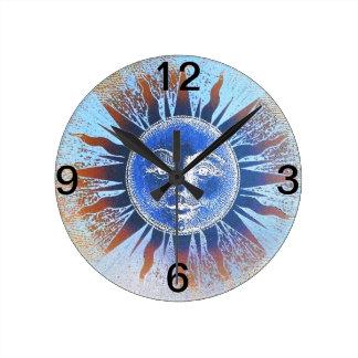Sun God Sun Face gifts Round Clock