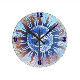 Sun God Sun Face Wall Clock