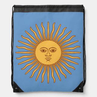 Sun God Symbol Drawstring Backpack