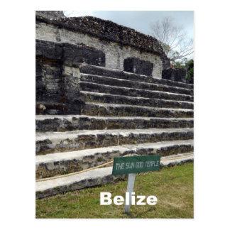Sun God Temple, Belize Postcard