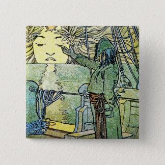 Sun Goddess by Alphonse Mucha Button