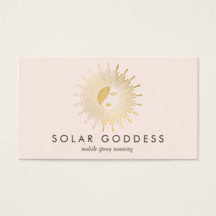 Tanning salon business cards templates zazzle sun goddess girl logo spray tanning salon pink business card colourmoves
