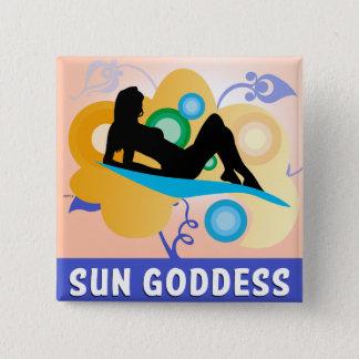 Sun Goddess Pinback Button