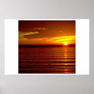 Sun Goes Down Horizon Poster