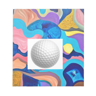 Sun Golf Ball Notepad