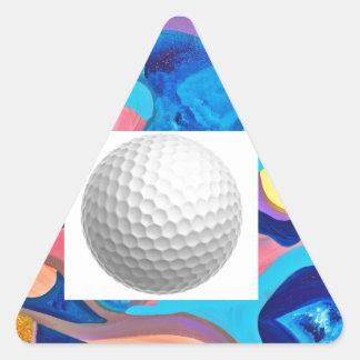 Sun Golf Ball Triangle Sticker