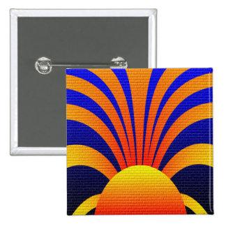 Sun Graffiti Pinback Button