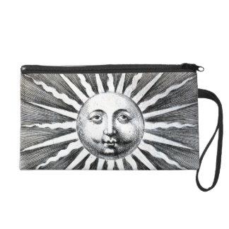 Sun hace frente al bolso blanco del grabado del