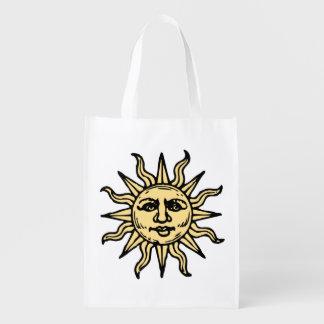 Sun hace frente bolsa reutilizable