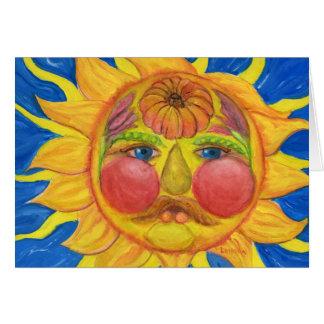 Sun hace frente, inspirado por Vertumnus de Tarjeta De Felicitación