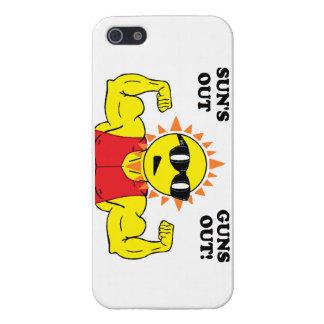 ¡Sun hacia fuera dispara contra hacia fuera! iPhone 5 Protectores