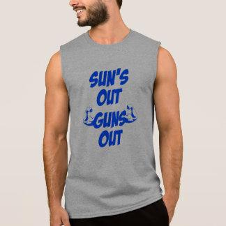 Sun hacia fuera dispara contra hacia fuera la camiseta sin mangas