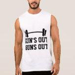 Sun hacia fuera dispara contra hacia fuera las camisetas sin mangas
