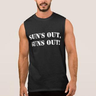 Sun hacia fuera dispara contra hacia fuera, camiseta sin mangas
