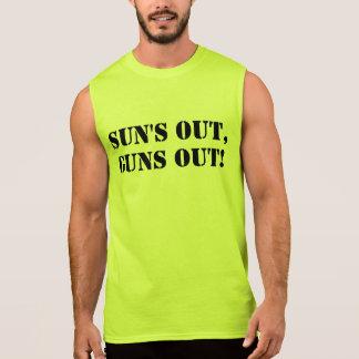 Sun hacia fuera dispara contra hacia fuera, camisetas sin mangas