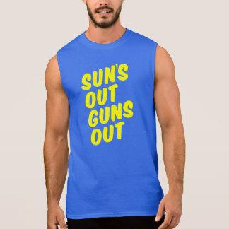 Sun hacia fuera dispara contra hacia fuera remeras sin mangas