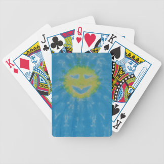 Sun Happy Face Tie Dye Bicycle Playing Bicycle Playing Cards