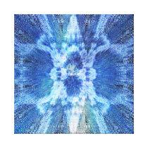 Sun Harmonic Fractal Pattern Reversed Cool Canvas Print