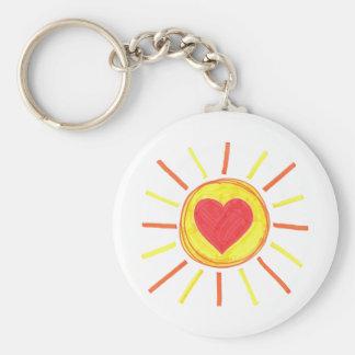 Sun Heart Key Chain