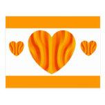 sun hearts postcard