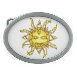 Sun Hebillas De Cinturon Ovales