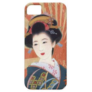 Sun hermoso irradia el caso japonés del geisha iPhone 5 fundas