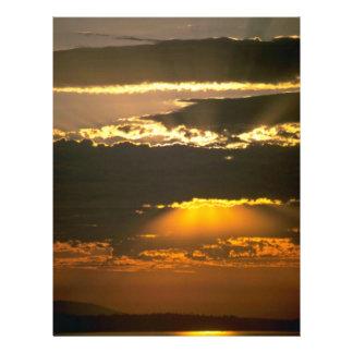 """Sun Hidden Behind Clouds 8.5"""" X 11"""" Flyer"""