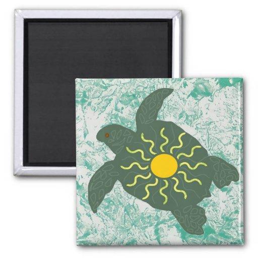 Sun honu ( sea turtle) magnet
