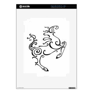Sun Horse Black Decal For iPad 2