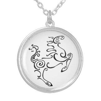 Sun Horse Black Custom Necklace