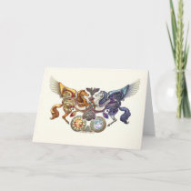 Sun Horse, Moon Horse Greeting Card