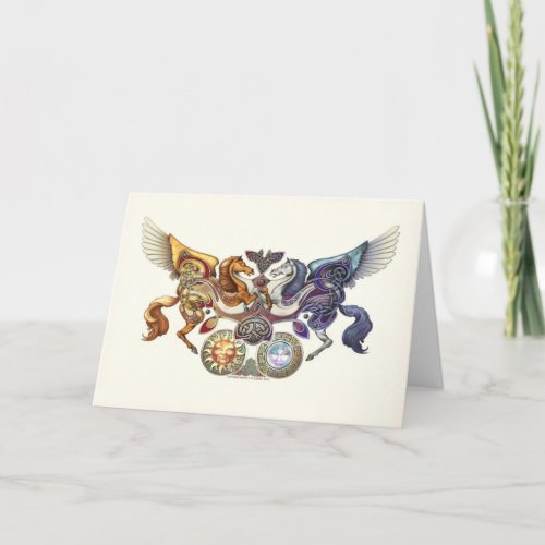 Sun Horse, Moon Horse Greeting Card