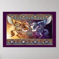"Sun Horse, Moon Horse Poster (30x20"")"