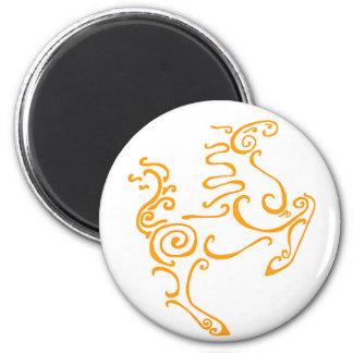 Sun Horse Orange 2 Inch Round Magnet