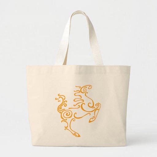 Sun Horse Orange Tote Bag