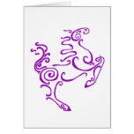 Sun Horse Purple Greeting Card