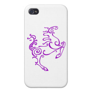 Sun Horse Purple iPhone 4/4S Cover