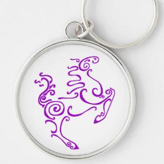 Sun Horse Purple Key Chain
