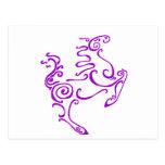 Sun Horse Purple Postcard