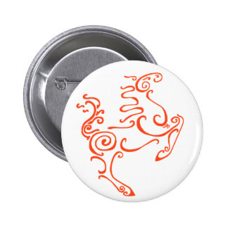 Sun Horse Red Pinback Buttons