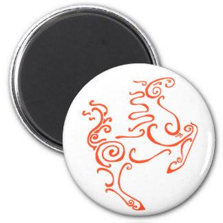 Sun Horse Red Refrigerator Magnet