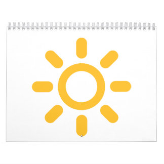Sun icon calendar