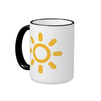 Sun icon mug