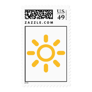 Sun icon postage stamps